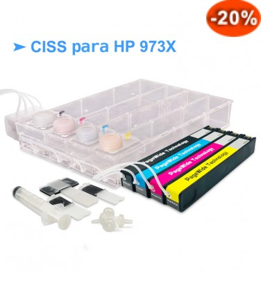 CISS p/ HP Officejet PageWide Pro - Tinteiros 913A e 973X