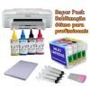 Pack sublimação: Epson WF-3010DW + 4 tintas sublimação 4x100ml + tinteiros recarregáveis + papel sublimático