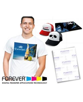 Papel Transfer Forever Laser Classic + Universal para Fundos Claros (Impressoras de Nova Geração)