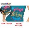 Papel Forever Subli-Dark (No-Cut) Glitter A4, para algodão e poliéster com cores escuras