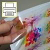 Vinil Transparente autocolante A4 para impressoras a jato de tinta - 10 folhas