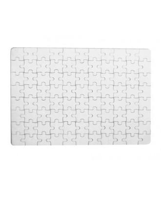 Puzzle A5 branco para sublimação - 80 pcs